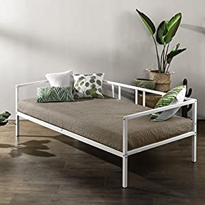 Zinus Gail Morning Mist Twin Daybed Frame / Steel Slat Support