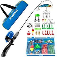 Kids fishing pole with spincast fishing reel combos included:1 x telescopic fishing pole1 x spincast reel and string with fishing line1 x fishing tackle with necessary fishing accessories1 x travel bag/carrierChild's Fising Pole Detail:Materi...