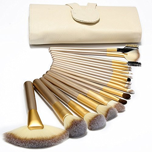 qihui-18-pcs-makeup-brush-set-professional-wood-handle-premium-synthetic-kabuki-foundation-blending-