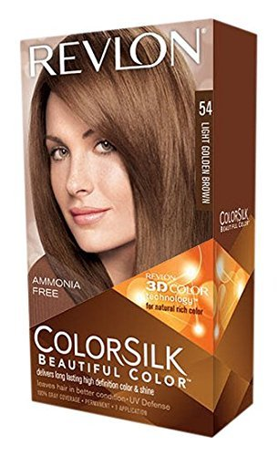 Revlon ColorSilk Beautiful Color Permanent Hair Color 54 Light Golden Brown 1 EA - Buy Packs and SAVE (Pack of ()