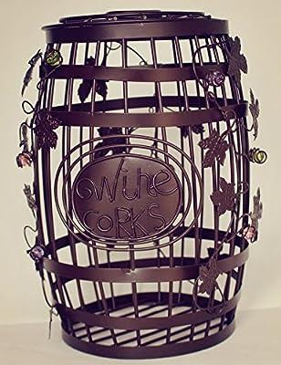 ESK Collection Wine Barrel Cork Cage - Great Bar Decor - Wine Corks Storage