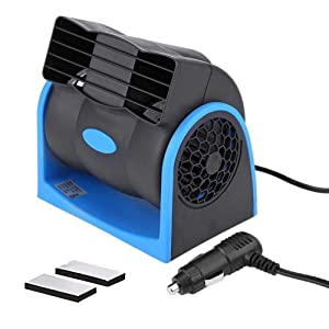 HITOPTY 12v Electric Car Dash Fan with Cigarette Lighter Plug for Auto Sedan Vehicle Pickup Van