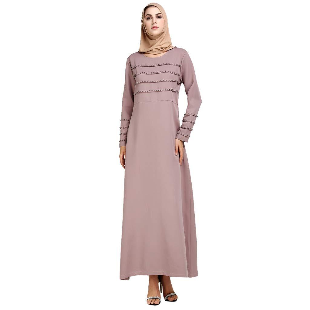 Eruption_X  Retro Women's Summer Casual Loose Long Dress Swing Party Dress Blue