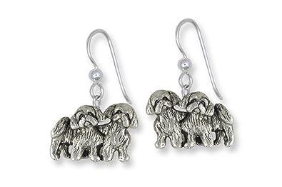 Amazoncom Shih Tzu Jewelry Sterling Silver Shih Tzu Earrings