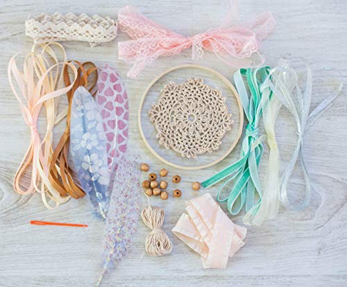 DIY Dreamcatcher kit Kids Craft Kit Do it yourself diy dream catcher Birthday Party Game Bridal Shower Party Favor Diam 4.8 inches (12 cm) Gift for girls from WORLDREAMER