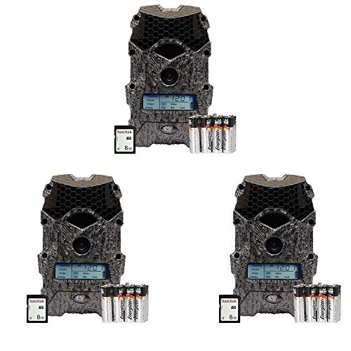 Wildgame Innovations Mirage 16MP Game Camera w/SD Card & Batteries (3 Pack)