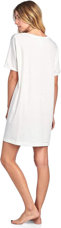 Casual Nights Womens Short Sleeve Printed Scoop Neck Sleep Tee