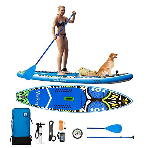 Feath-R-Lite Inflatable 11 Stand Up Paddle Board Cruise 6 Thick Includes Pump, Paddle, Backpack, Coil Leash,Fin and Universal Waterproof Case