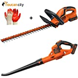 "Toucan City BLACK & DECKER 22"" 20-Volt Max Lithium-Ion Cordless Hedge Trimmer with Bonuskit LHT2220wLSW321 and Nitrile Dip Gloves(5-Pack)"