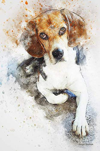 Beagle Notebook: Beautiful Hand Painted Watercolor Dog Journal