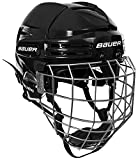 BAUER RE-AKT 75 MEDIUM HELMET BLACK WITH CAGE