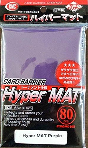 2X KMC Hyper Matte Purple Sleeves 80ct Fits Standard Size MTG, Magic, Pokemon etc...