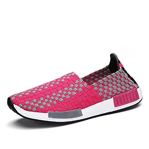 Top Zapatos Blanco Rosa Low Peggie Mujeres Elasticated Zapatillas estiramiento House amp; Tamaño 35 44 UqxHSAwT