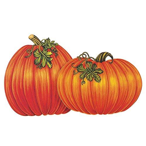 Beistle 4-Pack Decorative Packaged Pumpkin Cutouts, 16-Inch (Great Pumpkin Halloween Party)