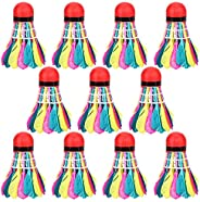 Badminton Shuttlecocks,Colorful Shuttlecock for Indoor/Outdoor Sports Training,11-Pack