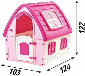 Casetta Per Giardino Plastica.Gbshop Casetta Per Bimba Rosa Principessa Casetta Per Bambine Da