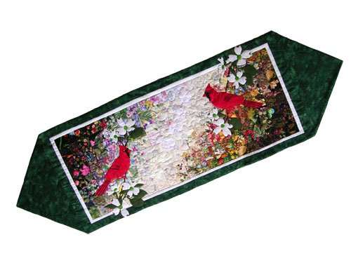 - Whims Watercolor Quilt Kits Cardinal Table Runner Quilting Supplies