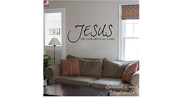 El Nombre de Jesús por Encima de Todos los Nombres Diciendo Wall ...