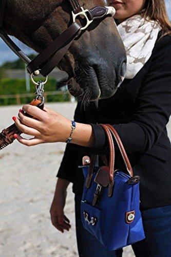 Equestrian Shop - Bolso de asas de Material Sintético para mujer dorado