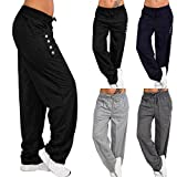 YOcheerful Womens Pants Trousers, Lady Spring Pants Loose Sportswear Pants Fitness Pants Sport Drawstring Trousers