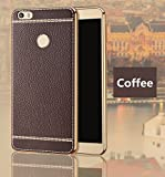 Excelsior Premium Silicon and leather back cover case for Xiaomi Mi Max - Coffee
