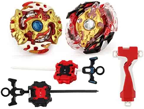 Bey Burst Evolution Battling Tops High Performance Starter Set with Launcher Grip Battle Set (2 Sets)
