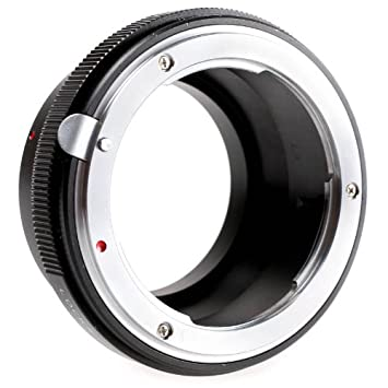 Quenox Adaptateur objectif avec bague d adaptation pour objectif Nikon F  vers connecteur à baïonnette 74372cf521bf