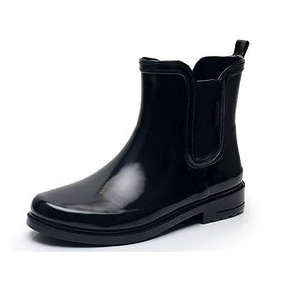 SOLARRAIN Women's Elastic Short Ankle Rubber Rain Boots Non Slip Waterproof Insulated Short Rain Shoes | Rain Footwear