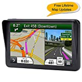 Car GPS, 7 inches Navigation System for Cars Lifetime Map Updates Touch Screen