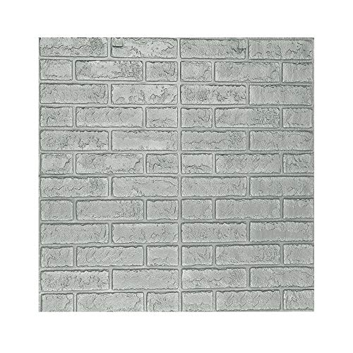 iLXHD 3D Wall Paper Brick Stone Rustic Effect Self-Adhesive Wall Sticker Home Decor