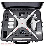 DJI Phantom 2 / 2 Vision / Vision Plus Hard Case. Military Spec., Waterproof and Airtight, Carrying Case with Foam for DJI Quadcopter and Gopro Accessories