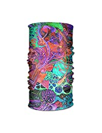 Psychedelic Art Unisex Fashion Quick-drying Microfiber Headdress Outdoor Magic Scarf Neck Neck Scarf Hooded Scarf Super Soft Handle