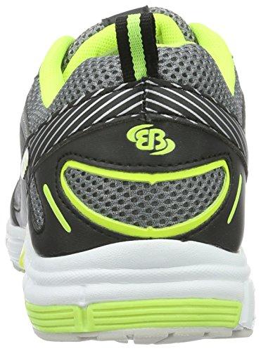 Bruetting Men's Fusion Running Shoes, Grey Grey (Grau/Schwarz/Lemon Grau/Schwarz/Lemon)
