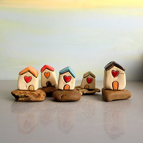 hand-made-ceramic-miniature-house-home-decor-pottery-office-desk-accessories-wedding-table-rustic-sc
