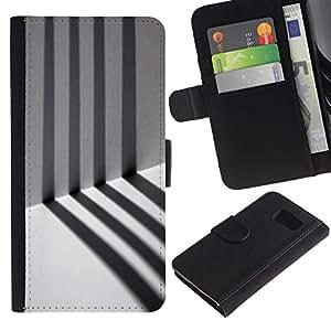 All Phone Most Case / Oferta Especial Cáscara Funda de cuero Monedero Cubierta de proteccion Caso / Wallet Case for Sony Xperia Z3 Compact // Prison Alone Stripes Minimalist