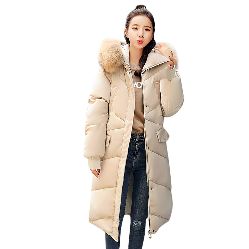 Seaintheson Women's Coats OUTERWEAR レディース B07JBW7F1Y XX-Large|ベージュ ベージュ XX-Large