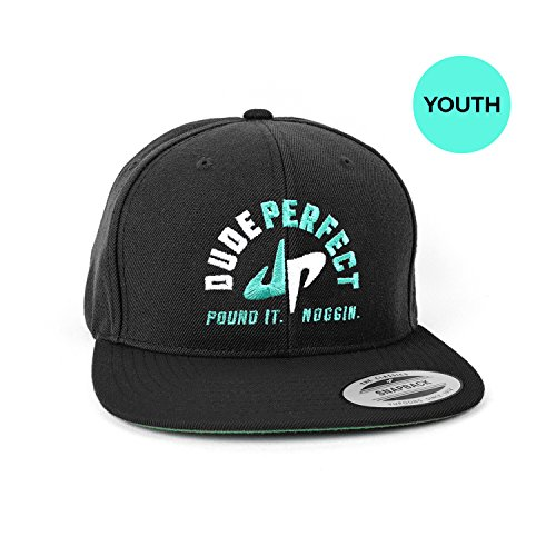 dude-perfect-youth-pound-it-noggin-snapback-one-size-fits-all-black-white-green