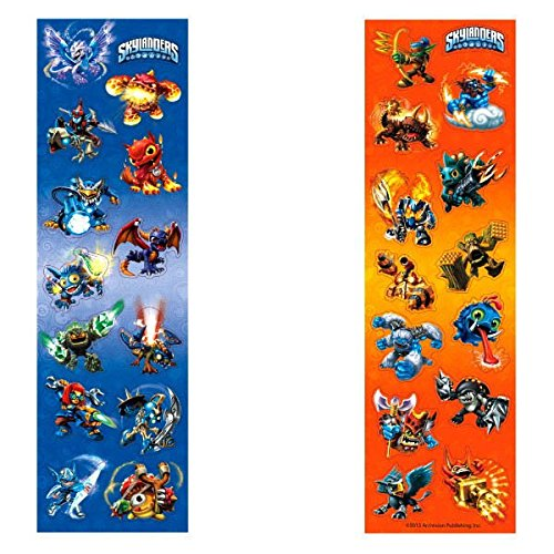 Amscan Skylanders Sticker Strips Birthday Party Favor, 6-5/16 x 1-7/8