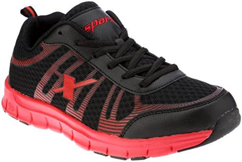 sm 218Buy Black Shoes Sparx 10 Sx0218g Red And Running Men's Uk SqzVMpjLUG