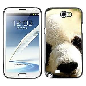 [Neutron-Star] Snap-on Series Teléfono Carcasa Funda Case Caso para Samsung Note 2 N7100 [Panda japonés lindo animal peludo Hocico]