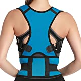 Comfort Elastic Posture Back Pain Upper Back Support Relief Brace Corrector For Adults & Kids Size S Light Blue