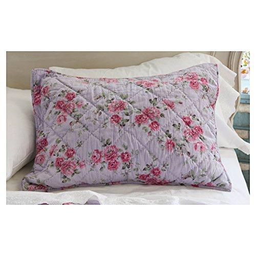 (Simply Shabby Purple Berry Rose Linen Blend Standard Sham)