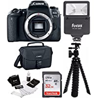 Canon EOS 77D (Body) with Canon DSLR Bag, Flash, 32GB SDHC card and Bundle