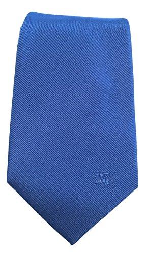 - Burberry Londan Rohan Bright Opal Equestrian Skinny Silk Tie