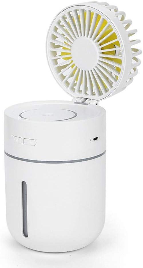 Mini ventilador de mano Ventilador de nebulización de mano, Mini ventilador de enfriamiento personal portátil con USB Batería recargable Operado con pulverizador de agua Ventilador pequeño para el hog