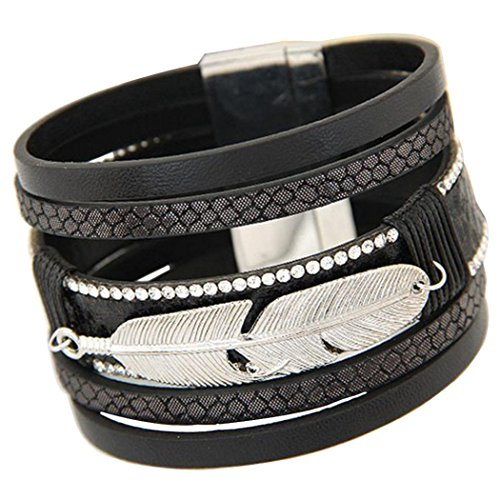 Willsa Feather Multilayer Magnetic Bracelet