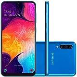 Smartphone Samsung Galaxy A50, 64Gb, Tela 6.4'', Azul, Sm-A505Gzbbzto