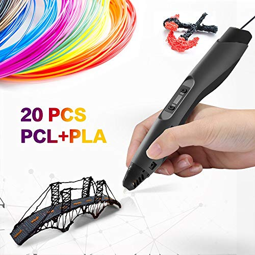 3D Printing Pen Professional for Drawing, Model Printing & Art Design - Art Pen/Crafting Pen with LCD Screen - 3D Craft Pen for Hobbyists, Crafters & Artists