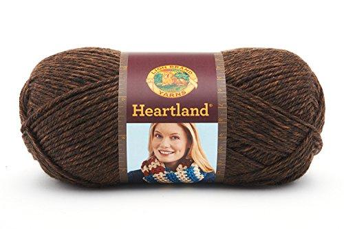 (Lion Brand Yarn 136-126 Heartland Yarn, Sequoia)