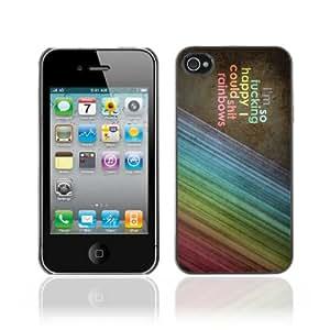 CaseCaptain Carcasa Funda Case - Apple iPhone 4 / 4S / Shi*T Rainbows LOL Sign /